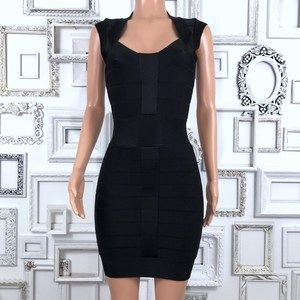 French Connection Black Bodycon Bandage Dress